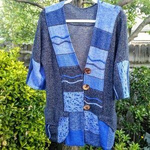 Blue Knit Shrug